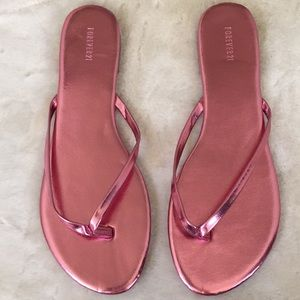 Brand new Forever 21  gold pink sandals